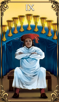 9 of Cups Tarot card from the Astrology Answers Master Tarot Deck.
