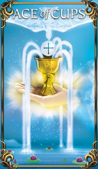 Ace of Cups Tarot card from the Astrology Answers Master Tarot Deck.