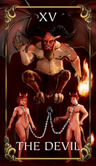 The Devil Tarot card from the Astrology Answers Master Tarot Deck.