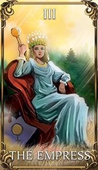 The Empress Tarot card from the Astrology Answers Master Tarot Deck.