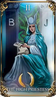 The High Priestess Tarot card from the Astrology Answers Master Tarot Deck.