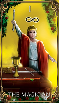 The Magician Tarot card from the Astrology Answers Master Tarot Deck.