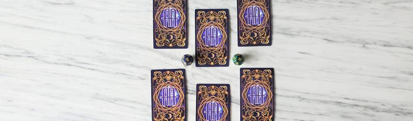 6-Card Tarot Spread for Aquarius Mercury Retrograde Tarot spread displayed on the Astrology Answers Master Tarot Deck.