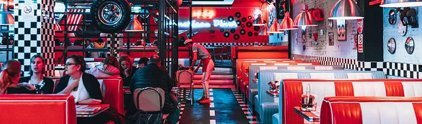 A modern 50s diner.