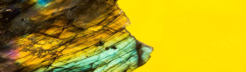 A labratorite crystal.