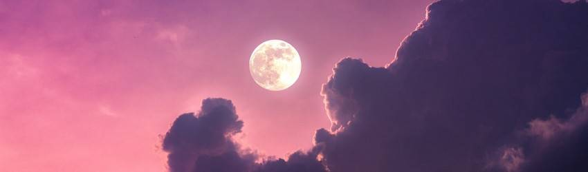 Full moon in the sky.