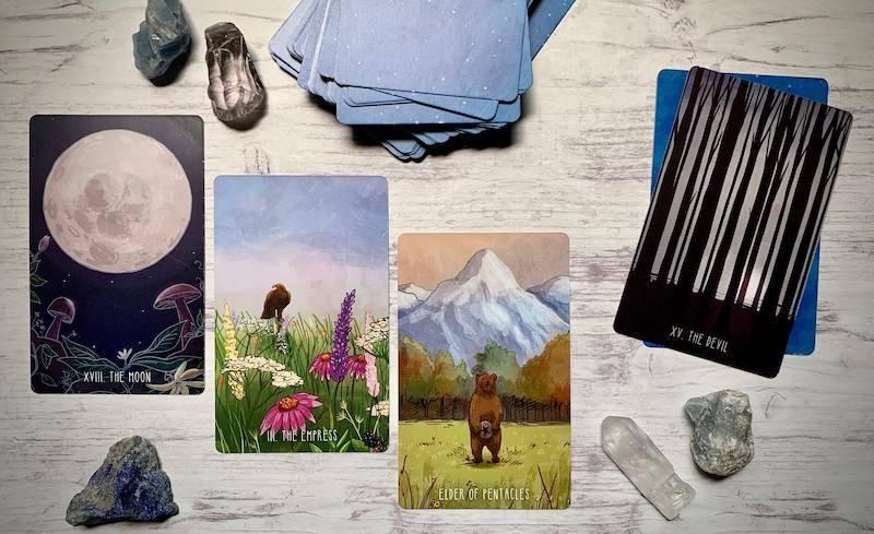 imafe of four tarot cards