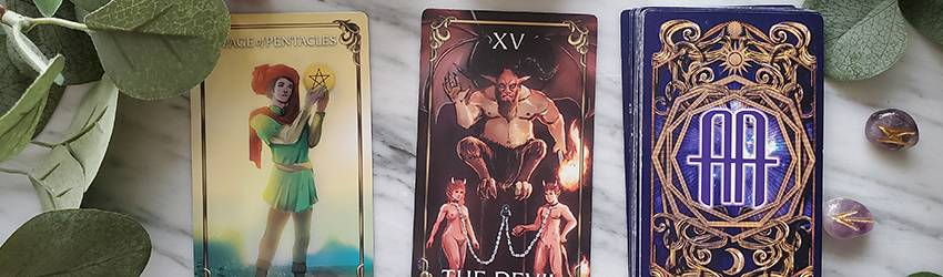 The Astrology Answers Master Tarot Deck displaying the cards that represent Capricorn.