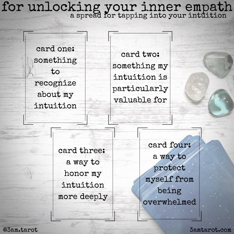 four card tarot spread to unlock your inner empath graphic