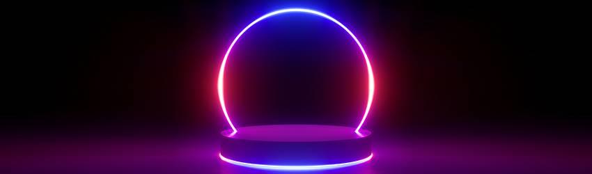 A neon circle representing a human aura.