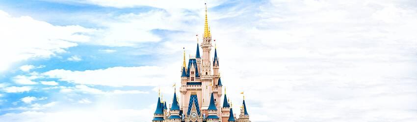 The disney land princess castle.