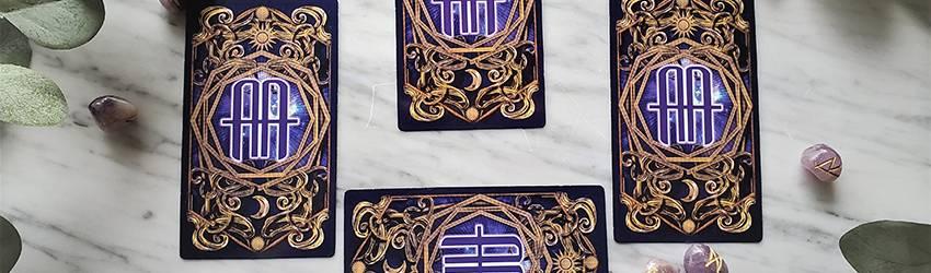 A 4-card Tarot spread using the Astrology Answers Master Tarot Deck.