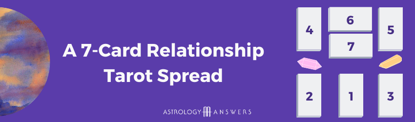 A 7 Card Tarot spread for crushes, relationships, and platonic love.