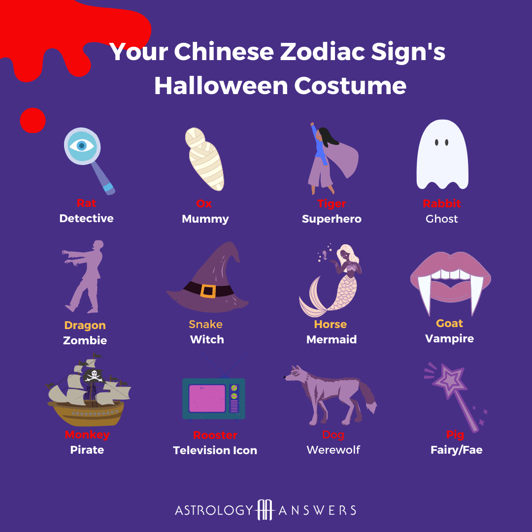 Halloween costumes based off of somebody's Chinese zodiac sign.